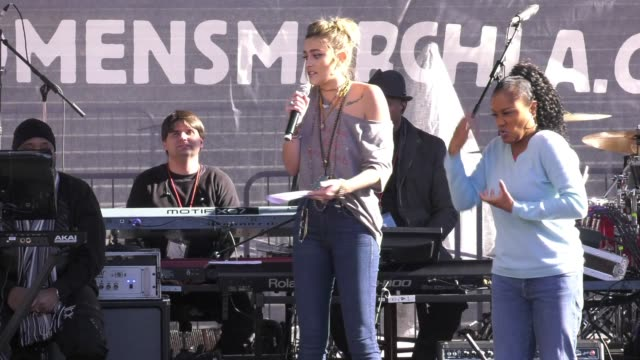 SPEECH Paris Jackson at 2018 Women's March Los Angeles on January 20 2018 in Los Angeles California