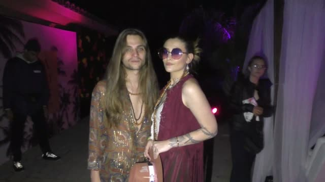 Paris Jackson Gabriel Glenn at Coachella in Indio in Celebrity Sightings in Los Angeles