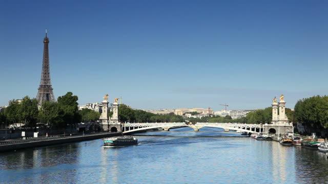 paris - la seine - seine river stock videos and b-roll footage