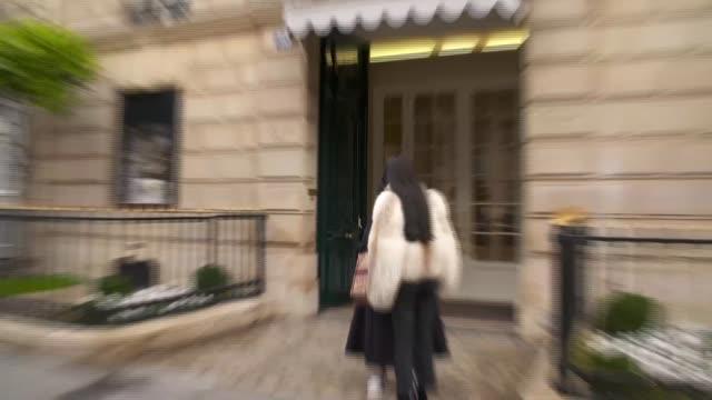 Luxury shops on Avenue Montaigne / people along ChampsElysees FRANCE Paris 8th arrondissement Avenue Montaigne EXT General views of 30 Avenue...