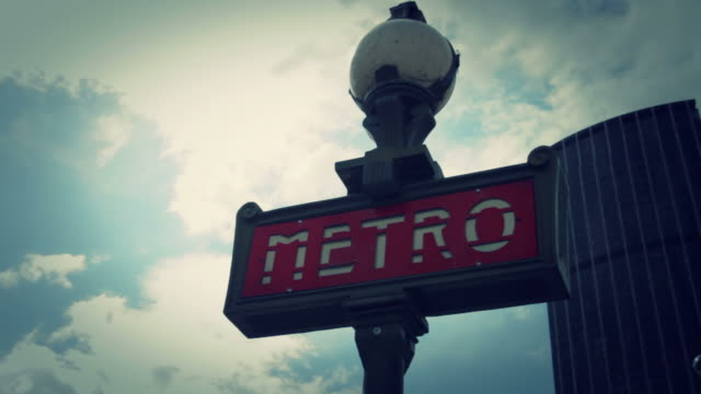 paris metro subway sign - bastille paris stock videos & royalty-free footage