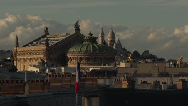paris opera garnier montmartre - basilique du sacre coeur montmartre stock videos and b-roll footage
