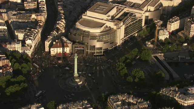 vídeos de stock, filmes e b-roll de paris : place de la bastille - bastille