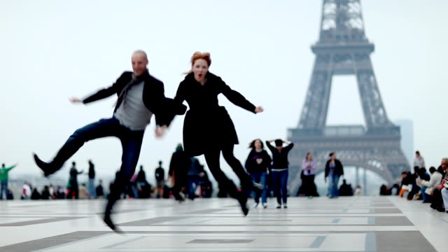 paris romance couple - french culture stock videos & royalty-free footage