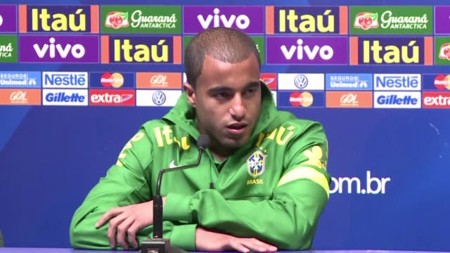paris saint germain lucas moura said france is a second country for him ahead of the friendly match facing france and brazil in porto alegre sunday... - alegre stock-videos und b-roll-filmmaterial