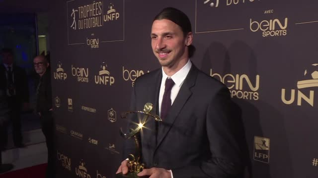 Paris Saint Germain striker Zlatan Ibrahimovic was voted Frances Ligue 1 player of the year for a record third time on Sunday