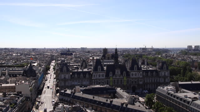 paris skyline - town hall stock videos & royalty-free footage