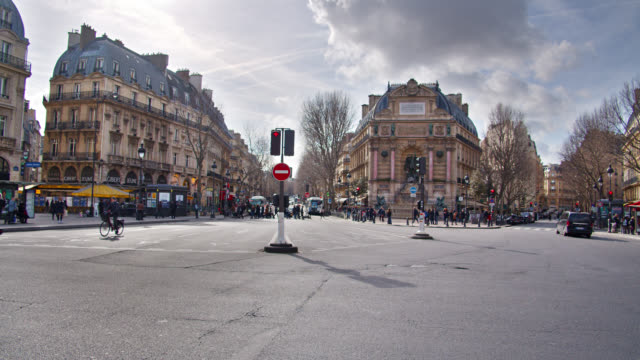 paris street. near galeries lafayette - shopping welcome center - french culture stock videos & royalty-free footage