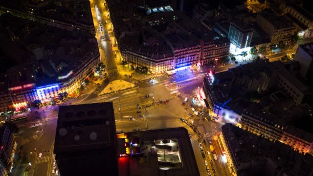 vidéos et rushes de temps qui passe: paris street - vie nocturne