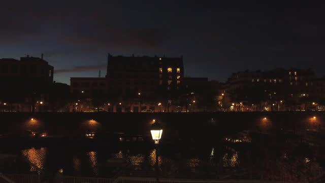 paris subdued in second coronavirus nation-wide lockdown - establishing shot stock videos & royalty-free footage