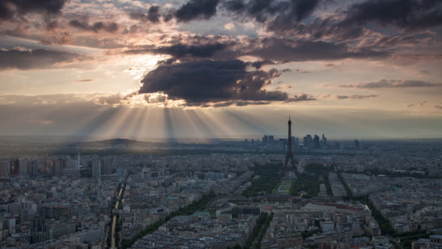 time lapse: paris - france stock videos & royalty-free footage