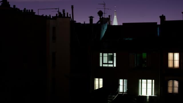 paris windows dawn - windows stock videos and b-roll footage