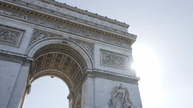 vídeos y material grabado en eventos de stock de paris, winter breaks and the arc de triomphe. - arco triunfal