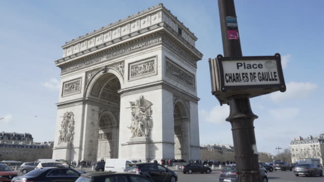 vídeos y material grabado en eventos de stock de paris, winter breaks and the arc de triomphe. - arco del triunfo parís