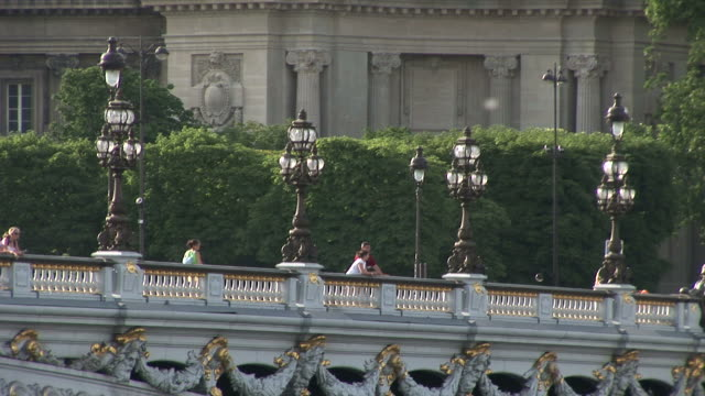 parisalexandre iii bridge in paris france - アレクサンドル3世橋点の映像素材/bロール