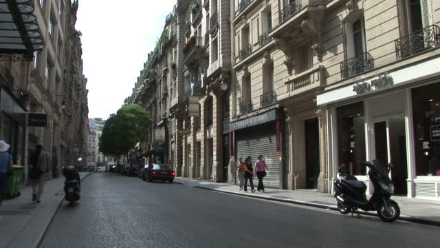 ParisCobblestone Walkway in City Street of Paris France
