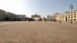 Pariser Platz empty during the coronavirus epidemy