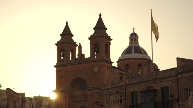 parish church in marsaxlokk, malta - history stock videos & royalty-free footage