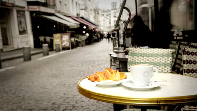 parisian cafe - paris france stock videos & royalty-free footage