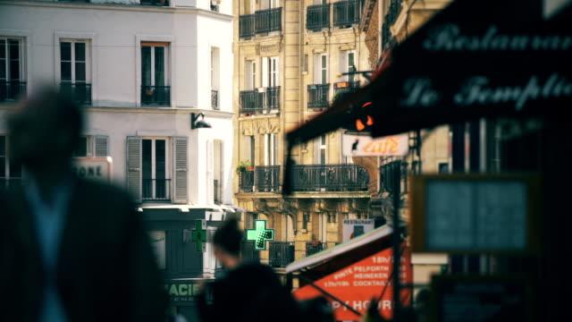 parisian pedestrians - medium group of people stock videos & royalty-free footage