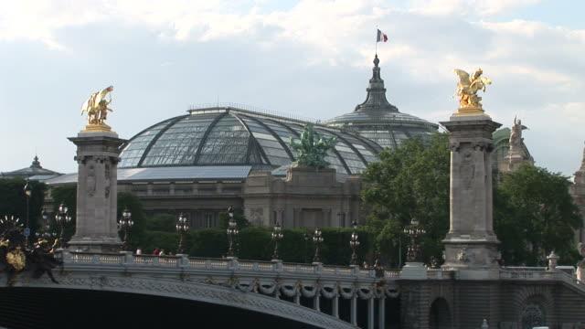 ParisView of Alexandre III Bridge and Grand Palais in Paris France
