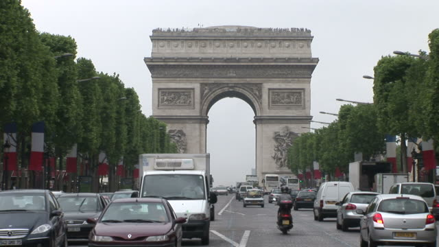 ParisView of Arc of Triumph in Paris France