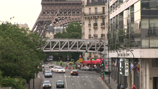 ParisView of Metro train in Paris France