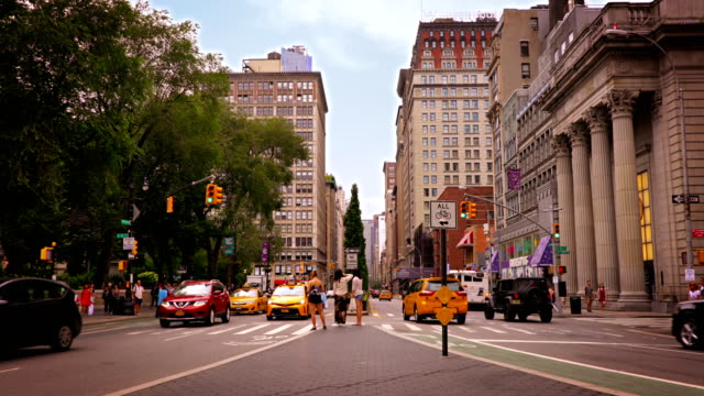 park avenue and union square park - union square new york city stock videos and b-roll footage