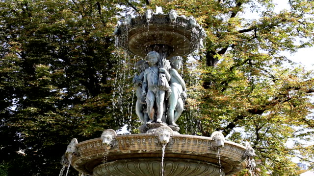 Park fountain in Paris (HD)