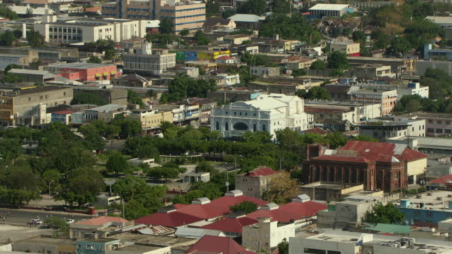 a park fronts the historic ward theatre in kingston, jamaica. - jamaica stock videos & royalty-free footage