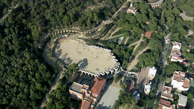 Park Guell  - Aerial View - Catalonia, Barcelona, Spain
