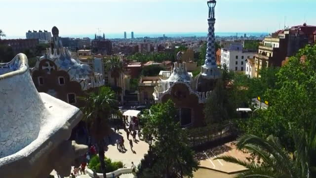 park guell / barcelona, spain - spanish culture stock videos & royalty-free footage