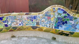 Park Guell bench in Barcelona