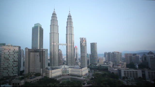 KLCC Park is beside the Petronas Twin Towers in Kuala Lumpur's City Centre area.