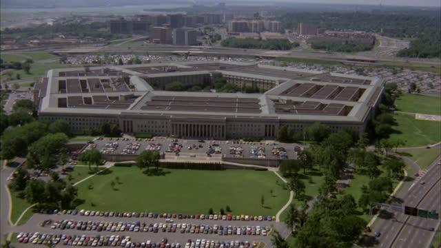 a park lies in the center of the pentagon in arlington, virginia. - arlington virginia stock videos & royalty-free footage