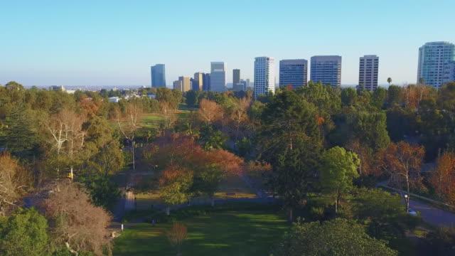 vidéos et rushes de park los angeles aerial - parc public