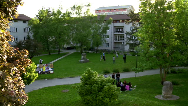 aerial park of the campus - university stock videos and b-roll footage