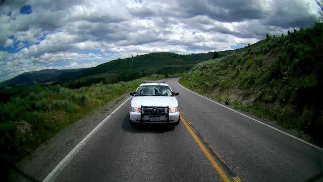 park ranger patrolling in the yellowstone national park - 公園保安官点の映像素材/bロール