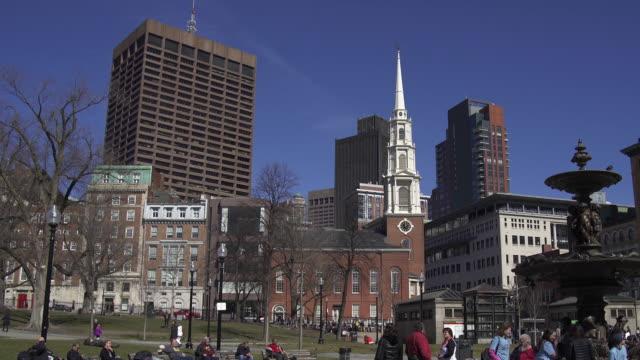 park street church in boston - evangelicalism stock videos & royalty-free footage