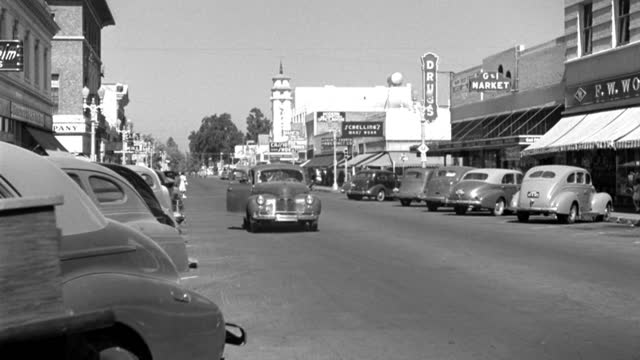 parked cars line a town's main street in 1945. - 1945 stock videos & royalty-free footage