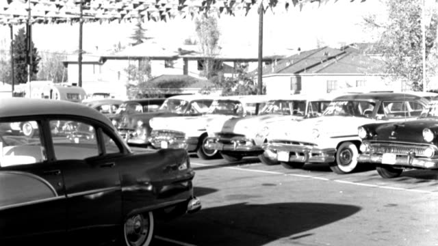 parked cars occupy a used car lot in 1959. - 1959 stock videos & royalty-free footage