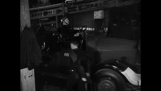montage parked military ambulances, fire fighters responding to call, and soldiers patrolling the embankment and maintaining a radar station / england, united kingdom - world war ii stock videos & royalty-free footage