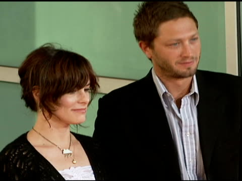 parker posey and ebon moss-bachrach at the premiere of 'the lakehouse' red carpet at arclight cinemas in hollywood, california on june 13, 2006. - parker posey stock videos & royalty-free footage