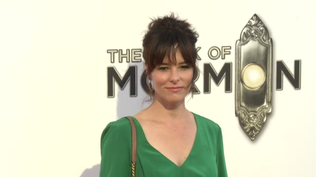 parker posey at the book of mormon los angeles opening night on 9/12/12 in los angeles, ca - parker posey stock videos & royalty-free footage