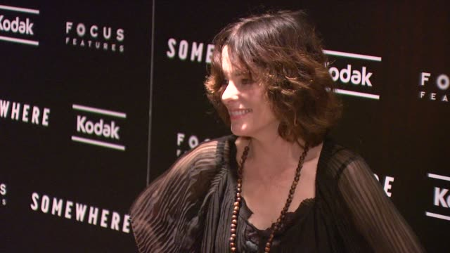 parker posey at the 'somewhere' special screening at new york ny. - parker posey stock videos & royalty-free footage