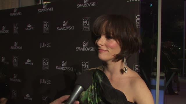 parker posey on if it was difficult dressing for tonight's event knowing she'd be surrounded by costume designers, on why she wanted to host... - parker posey stock videos & royalty-free footage
