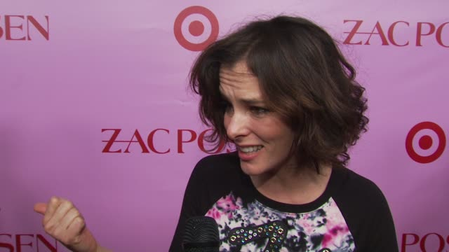parker posey on this being a fun party. at the zac posen celebrates launch of the zac posen for target collection at new york ny. - parker posey stock videos & royalty-free footage