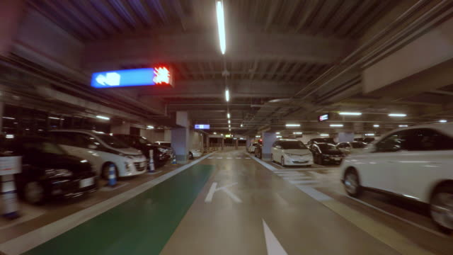 parking -4k- - basement stock videos and b-roll footage