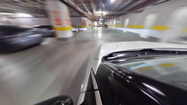 parkplatz unter gebäuden, kleines planetenformat - 360 grad panorama stock-videos und b-roll-filmmaterial