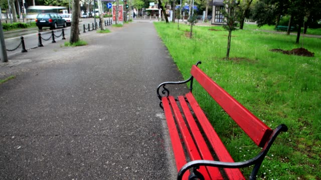 parking bench and street - 1946 stock videos & royalty-free footage